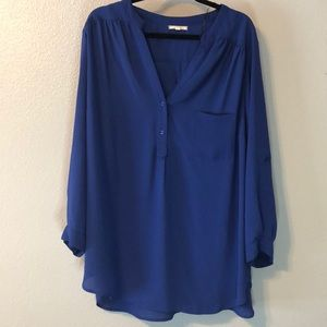 Colbalt Blue Blouse